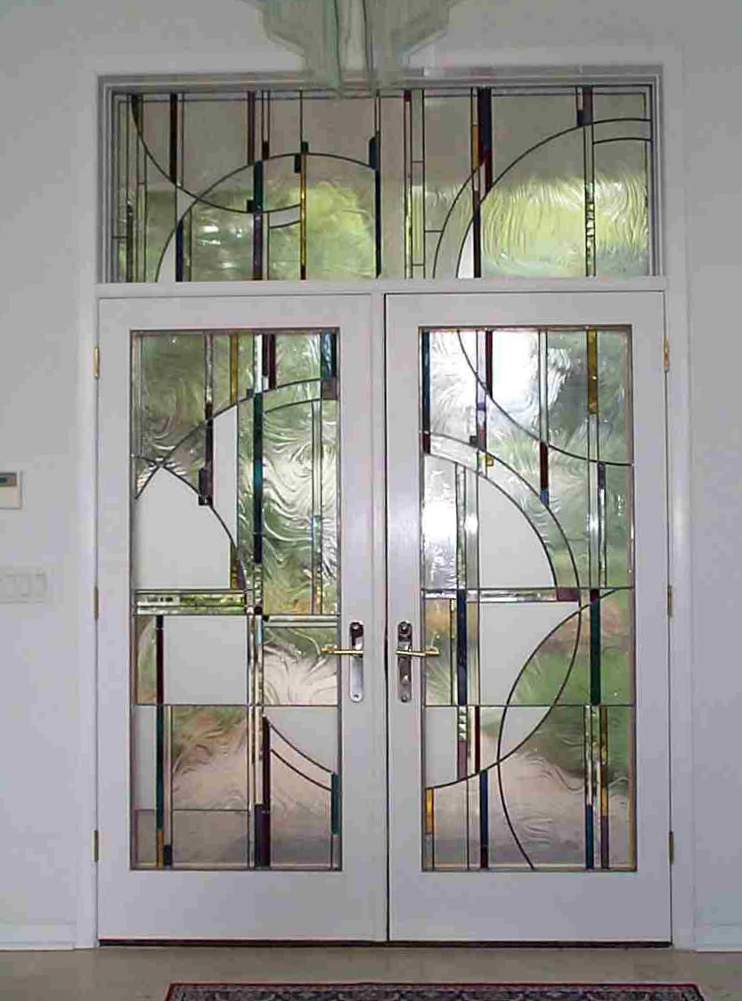 Stained glass transom patterns patterns gallery for Outside doors with glass