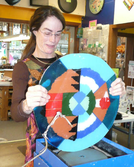 The Vinery Glass Studio - A Student's Fused Plate