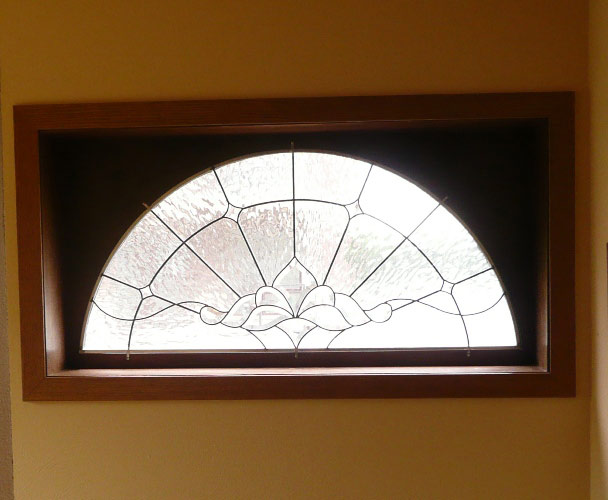 Vinery Glass stained glass arched bevel window