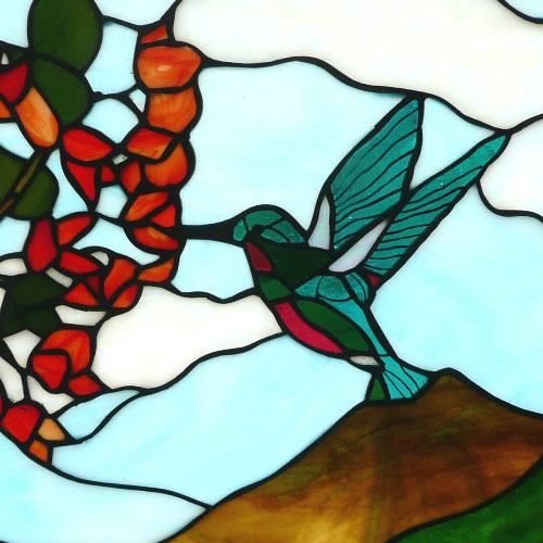 Vinery Glass stained glass window detail