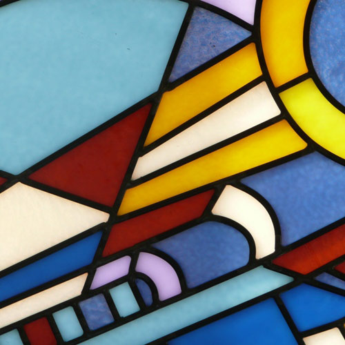 Vinery Glass stained glass color detail