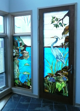 Vinery Stained Glass Door