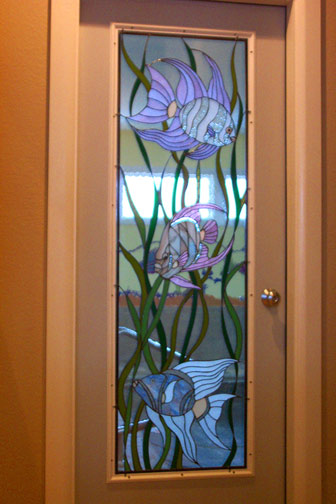 Vinery Glass stained glass custom doorway