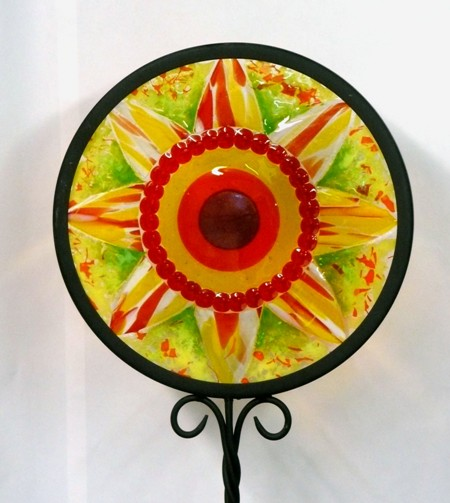 Vinery Glass fused glass garden stake