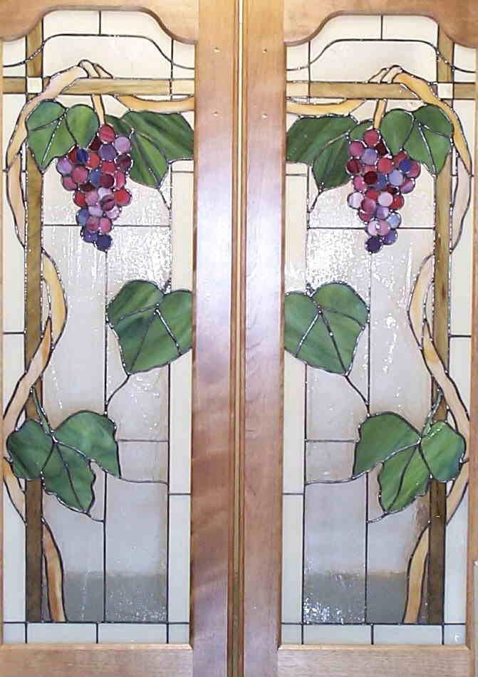Vinery Glass stained glass cabinet door